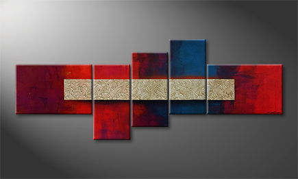 Moderne wall art 'Hot-Cold Connection' 210x80cm