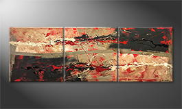 Moderne wall art 'Hot Feelings' 210x70cm