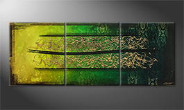 Moderne wall art 'Jungle Gold' 210x80cm