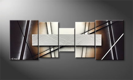 Moderne wall art 'Light Spectacle' 140x50cm