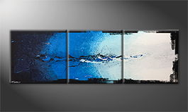 Moderne wall art 'Liquid Ice' 210x70cm