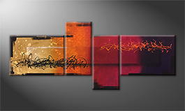 Moderne wall art 'Magic Sundown' 240x100cm