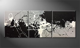 Moderne wall art 'Melting Light' 180x70cm