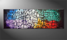 Moderne wall art 'New Era' 210x70cm