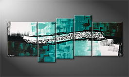 Moderne wall art 'Pacific Wave' 190x80cm