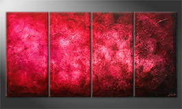 Moderne wall art 'Purple Cloud' 160x80cm