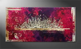 Moderne wall art 'Purple Dream' 140x70cm