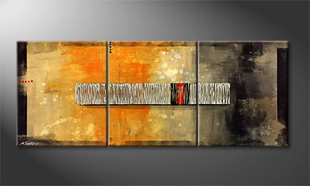 Moderne wall art 'Red Hot' 180x70cm