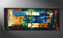 Moderne wall art 'Reflections' 200x80cm