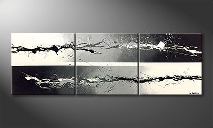 Moderne wall art 'Shadow Eruption' 210x70cm