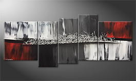 Moderne wall art 'Silver Connection' 190x80cm