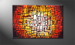 Moderne wall art 'Summer Heat' 120x80cm