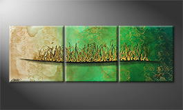 Moderne wall art 'Tea Time' 180x60cm