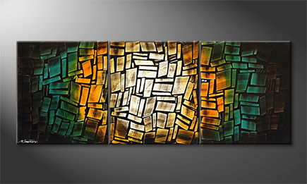 Moderne wall art 'Tropic Dawn' 180x60cm