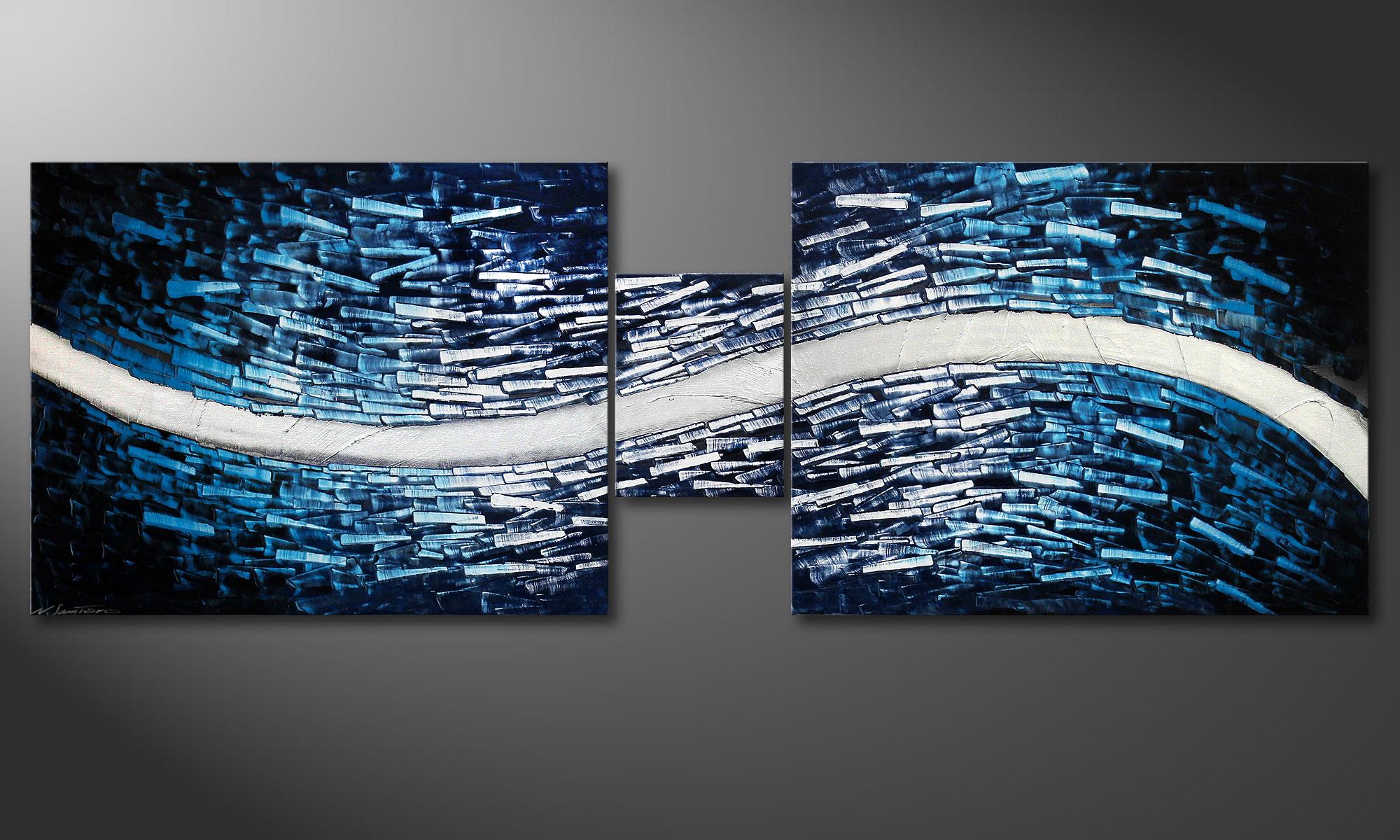 Woonkamer schilderij arctic stream 230x80cm   schilderij xxl