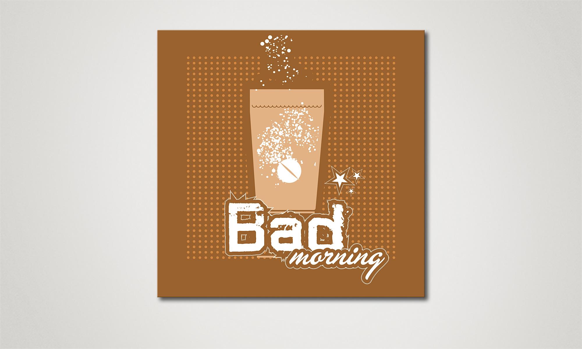 Het foto canvas bad morning 60x60cm schilderij xxl for Foto in het bad