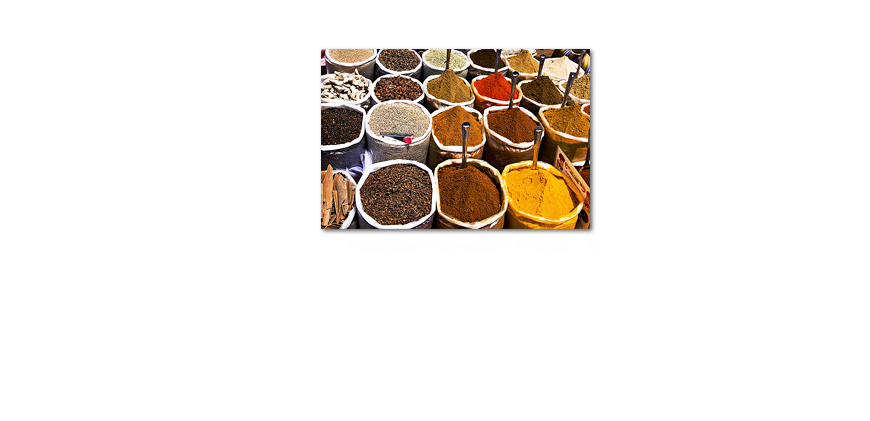 Het foto canvas Colorful Spices 120x80cm