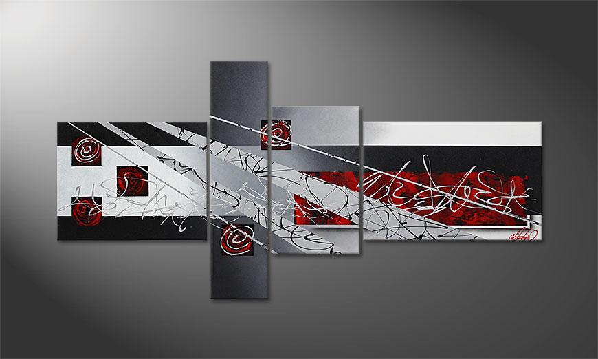 Black Lights 160x80x2cm Schilderij