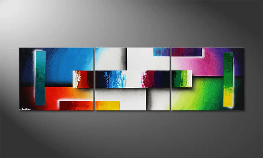 Colour Construction 210x60x2cm Moderne beeld