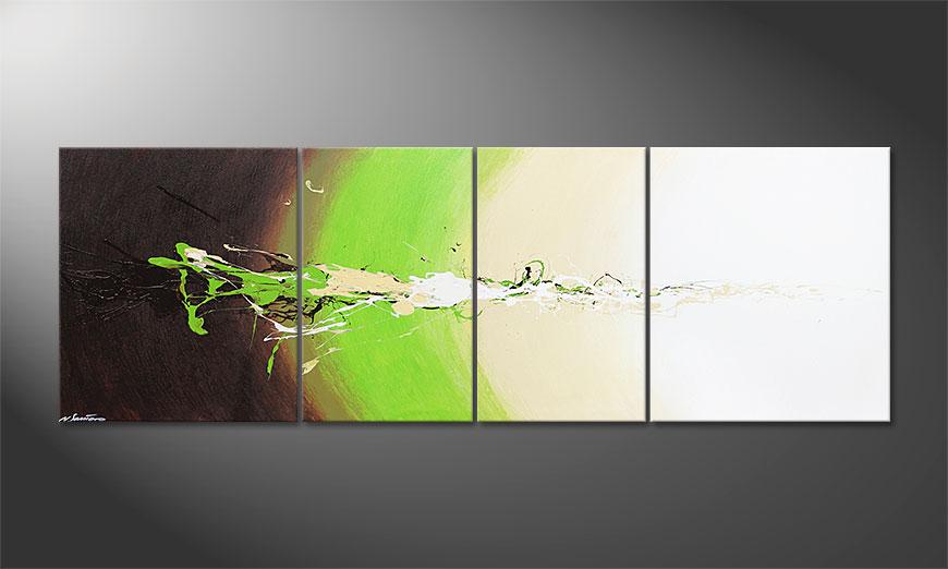 De grote schilderij Fresh Splash 240x80x2cm