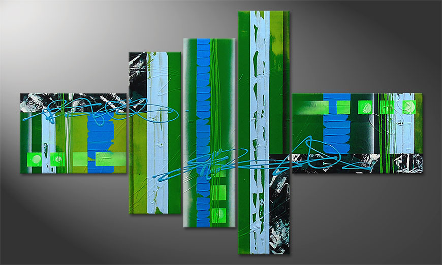 De moderne schilderij Fresh Momentum 150x90x2cm