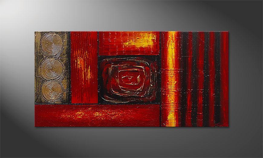 De schilderij Emotional Moments 120x60x2cm