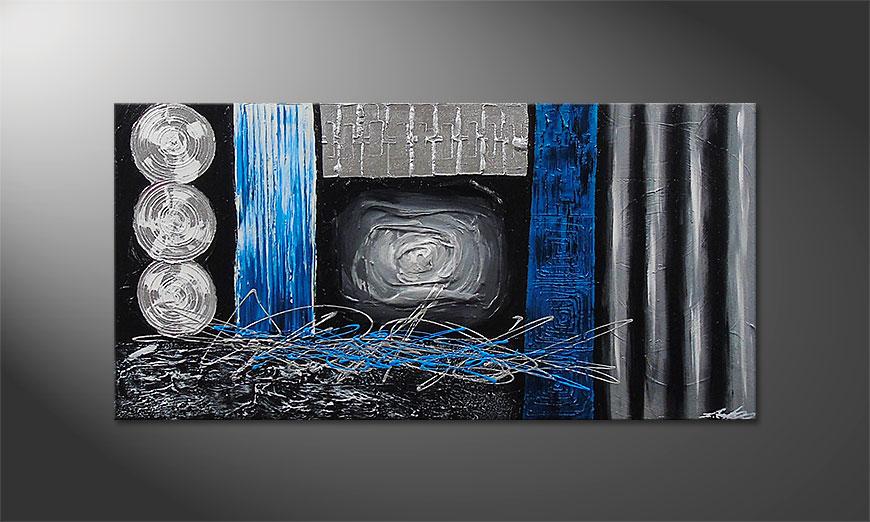 De schilderij Frozen Signs 120x60x2cm