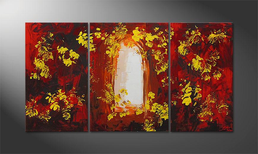 De schilderij Garden Gate 130x70x2cm