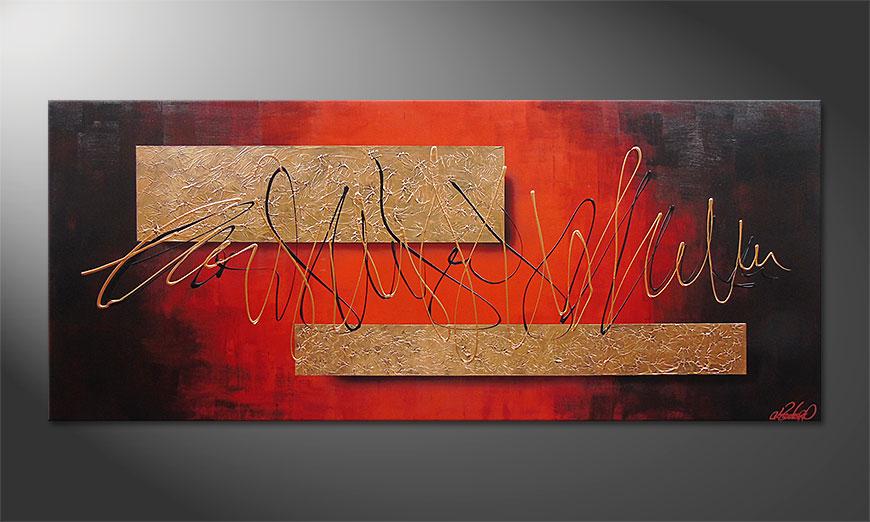 De schilderij Golden Works 180x80x2cm
