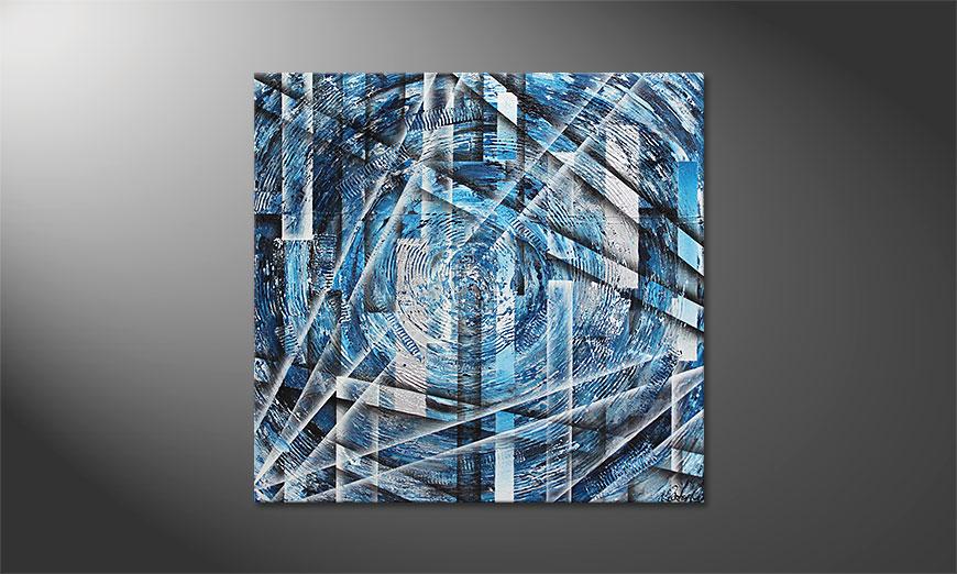 De schilderij Inner Ice 100x100x2cm