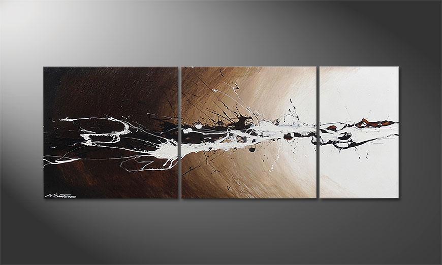 De schilderij Light Eruption 130x50x2cm
