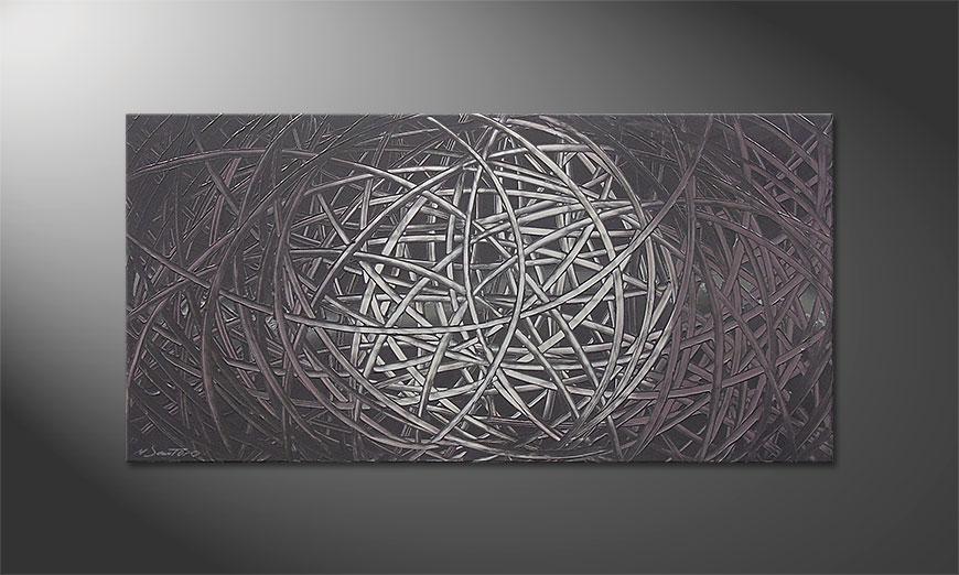 De schilderij Moonshine 120x60x2cm