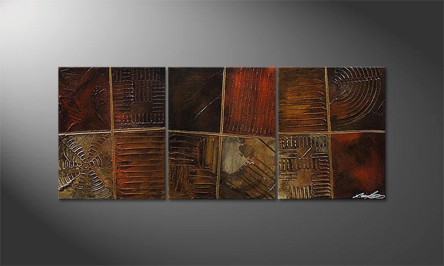 De schilderij Potpouri of Memories 120x50x2cm