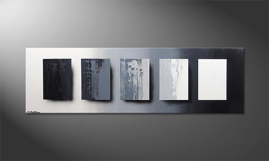 De schilderij Reverse the Day 160x50x2cm