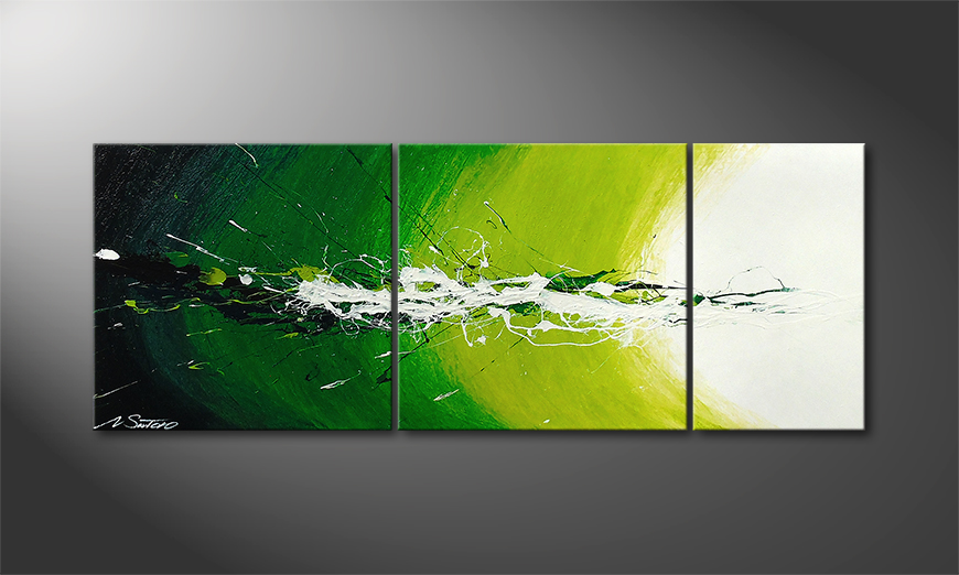 De schilderij Spring Splash 130x50x2cm