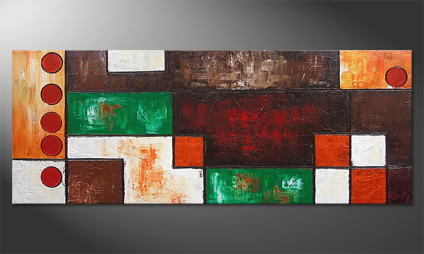 De schilderij Stand Out 150x60x2cm