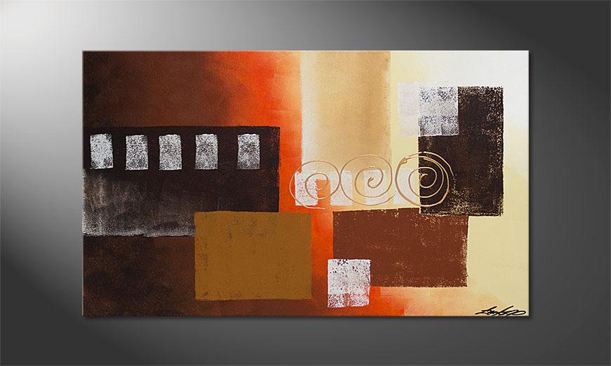De schilderij Sunny Swirls 100x60x2cm