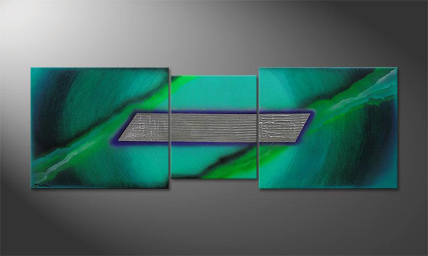 De schilderij Underwater Treasure 210x70x2cm