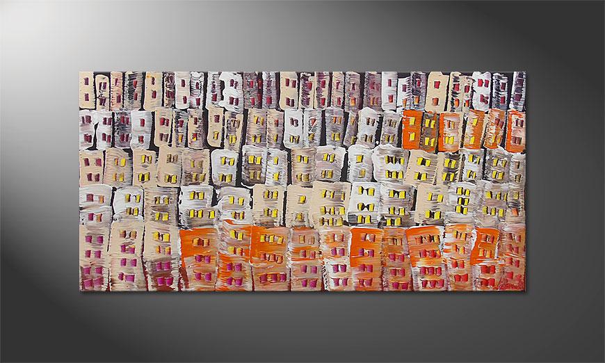 De schilderij Urban Desert 120x60x2cm