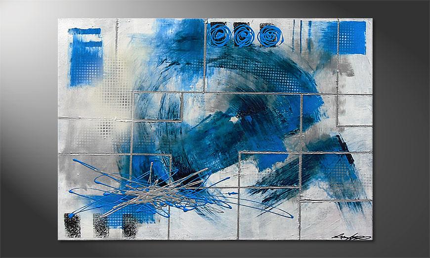 De schilderij Water Signs 100x70x2cm