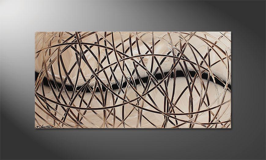 De schilderkunst Desert Traces 120x60x2cm