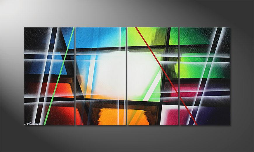 Het canvas Prisma 160x80x2cm