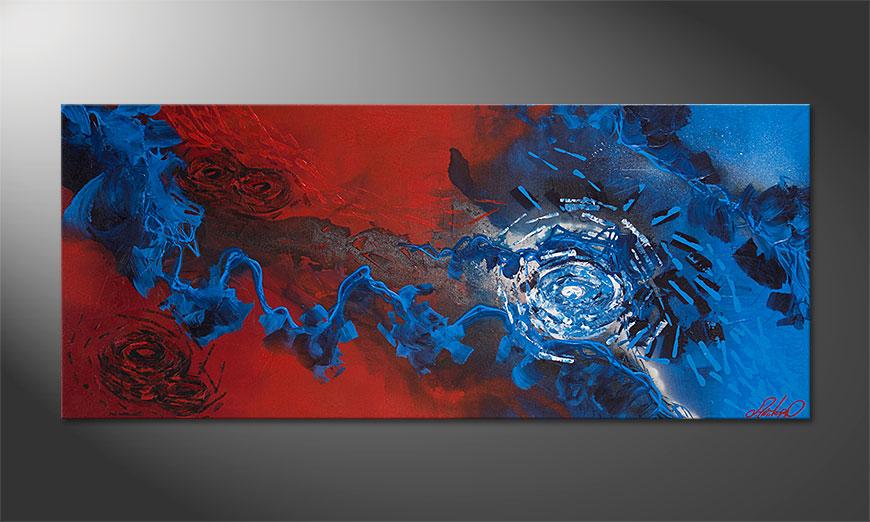 Moderne beeld Frozen Rose 140x60x2cm