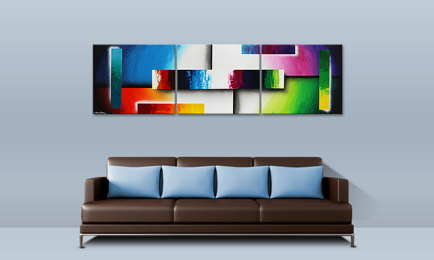 Colour Construction 210x60cm Moderne beeld