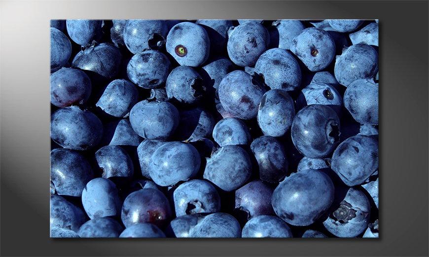 Blueberries wandpaneel