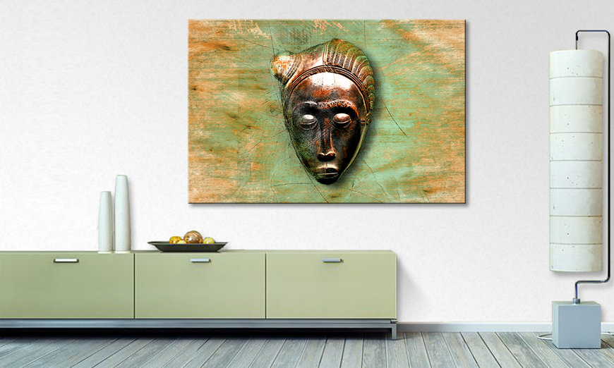 Canvaskunst African Mujer