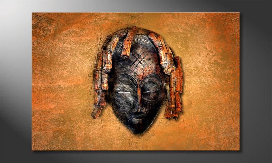 Canvaskunst Black Face