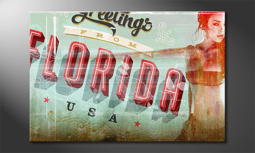 De erotische print Florida Girl