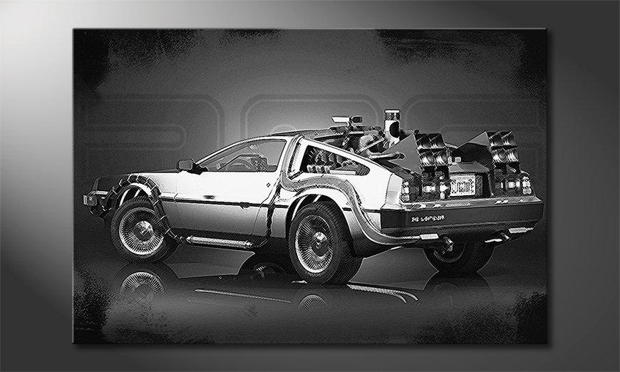 De stijlvol wandpaneel DeLorean