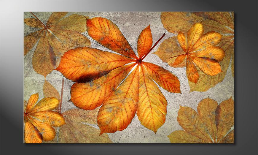 Fine-Art print Kastanien Gelb 80x50 cm